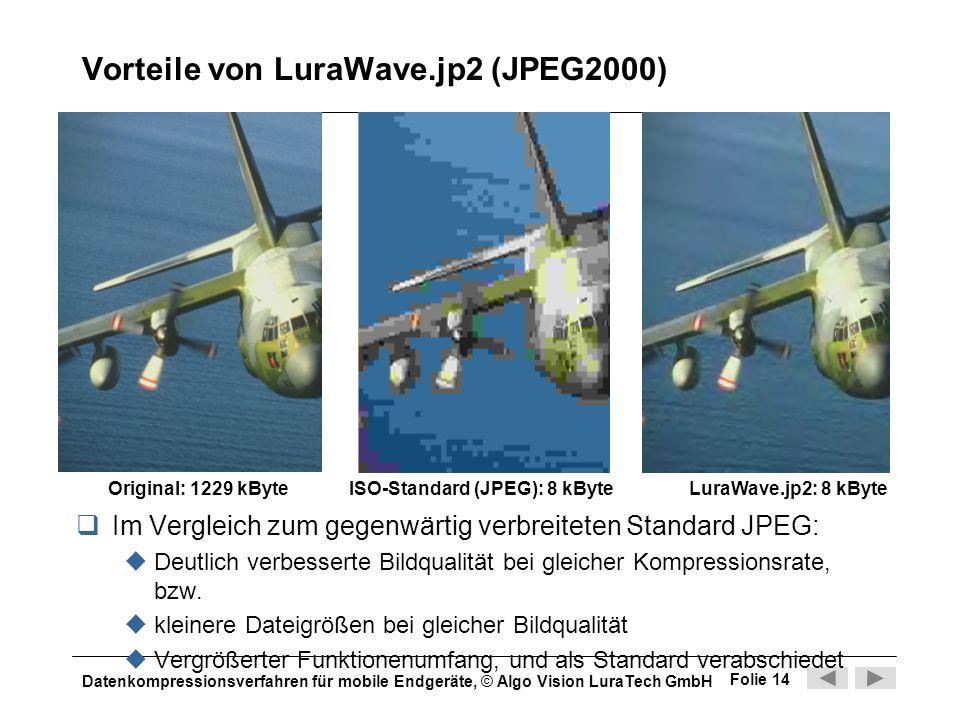 Vorteile von LuraWave.jp2 (JPEG2000)