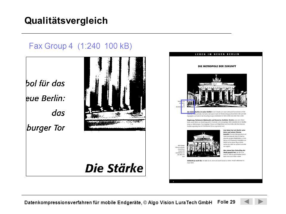 Qualitätsvergleich Fax Group 4 (1:240 100 kB)