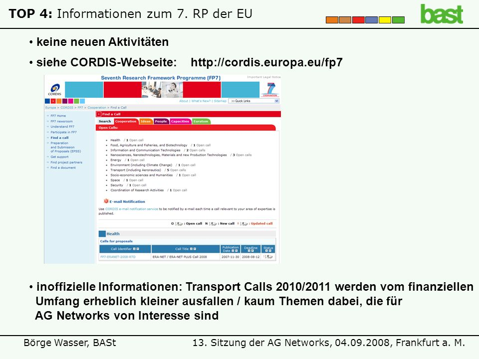 TOP 4: Informationen zum 7. RP der EU