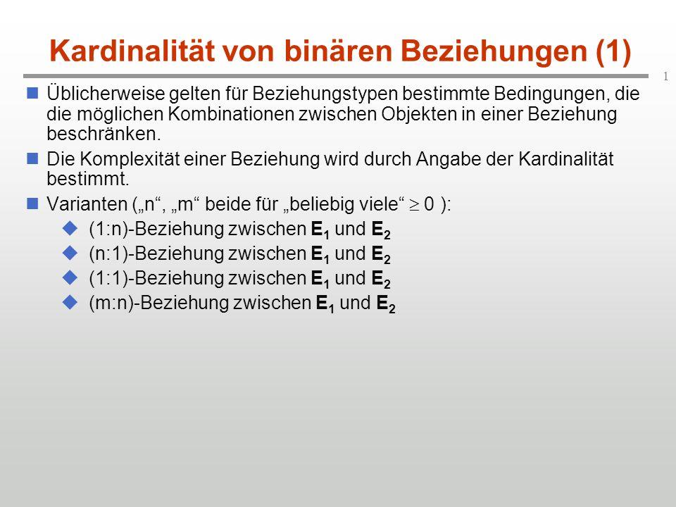 Kardinalität von binären Beziehungen (1)