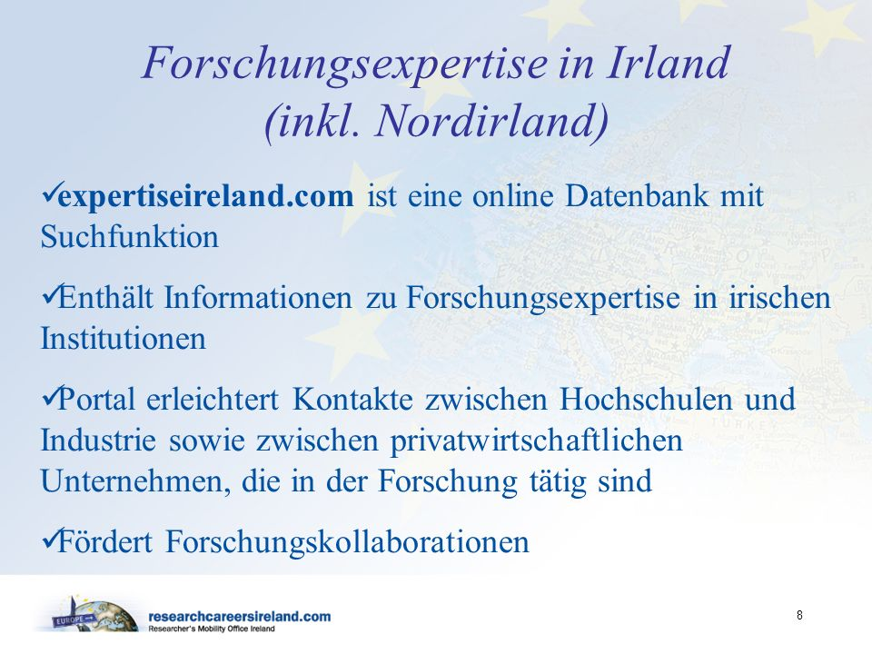 Forschungsexpertise in Irland (inkl. Nordirland)