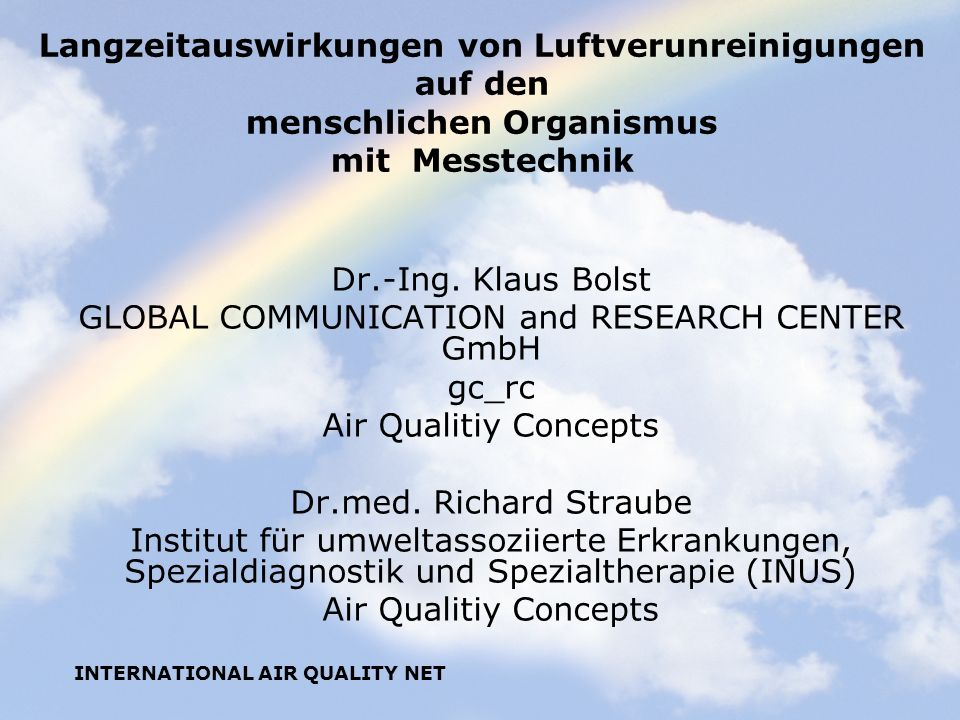 GLOBAL COMMUNICATION and RESEARCH CENTER GmbH