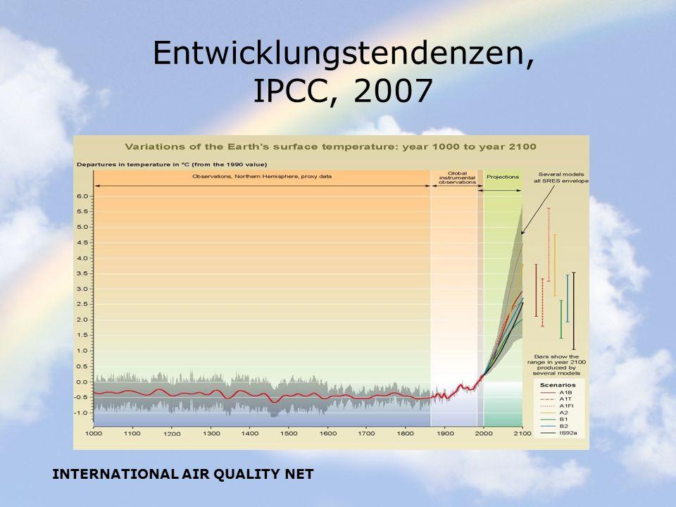 Entwicklungstendenzen, IPCC, 2007