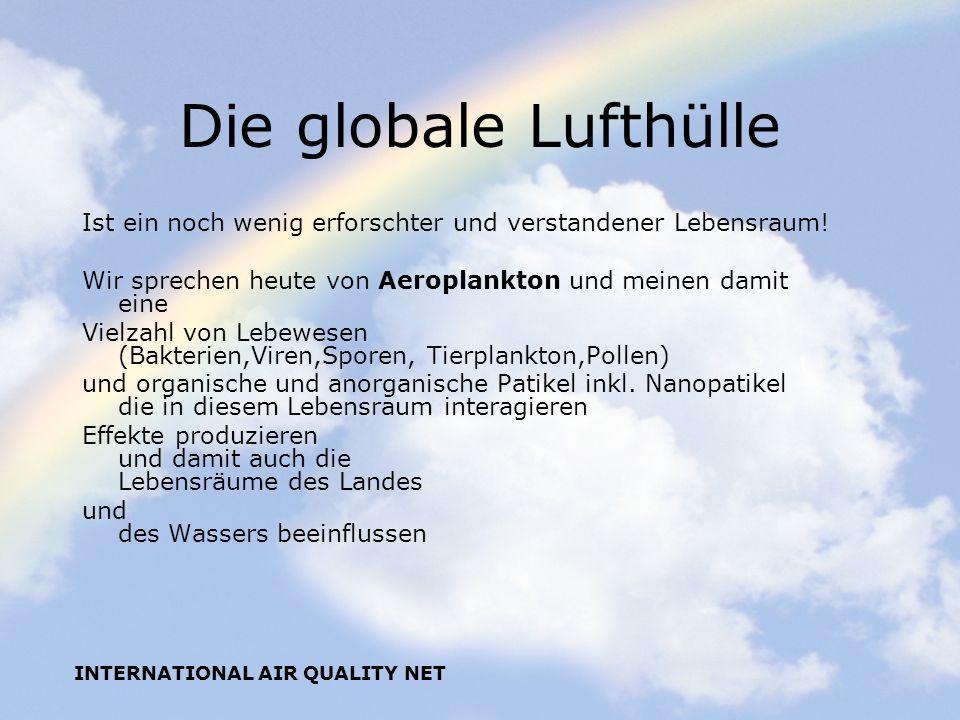 Die globale Lufthülle Ist ein noch wenig erforschter und verstandener Lebensraum! Wir sprechen heute von Aeroplankton und meinen damit eine.