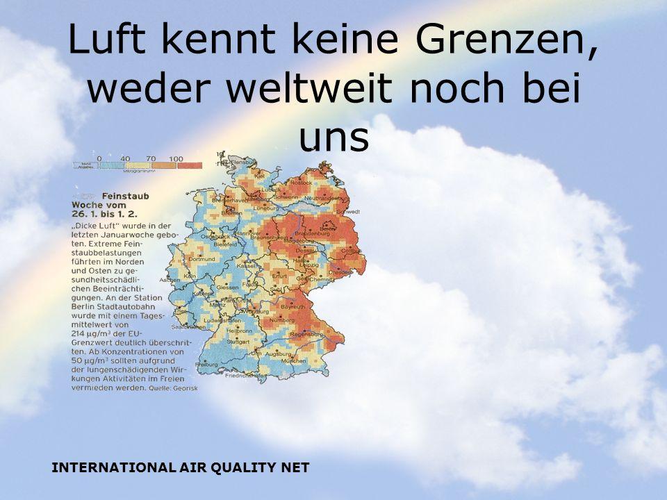 Luft kennt keine Grenzen, weder weltweit noch bei uns