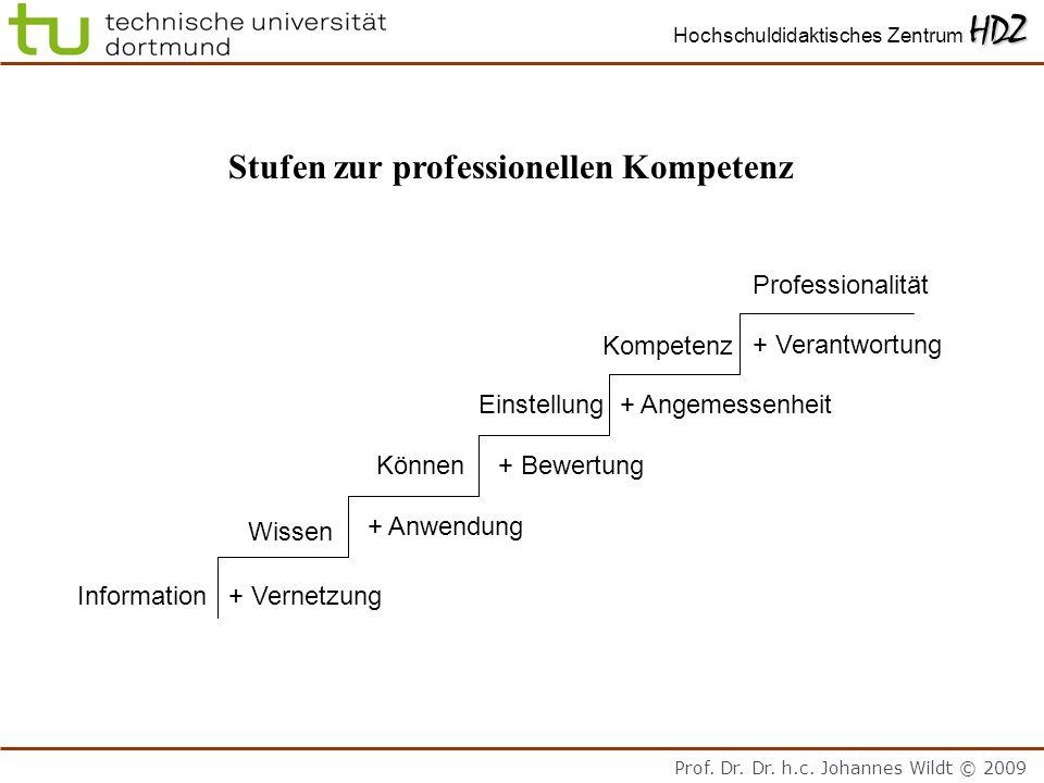Stufen zur professionellen Kompetenz