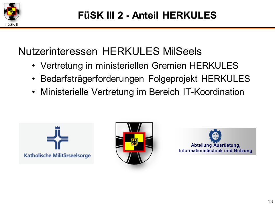 FüSK III 2 - Anteil HERKULES