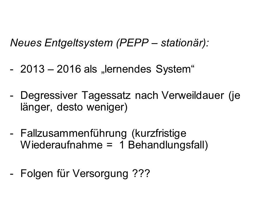 Neues Entgeltsystem (PEPP – stationär):