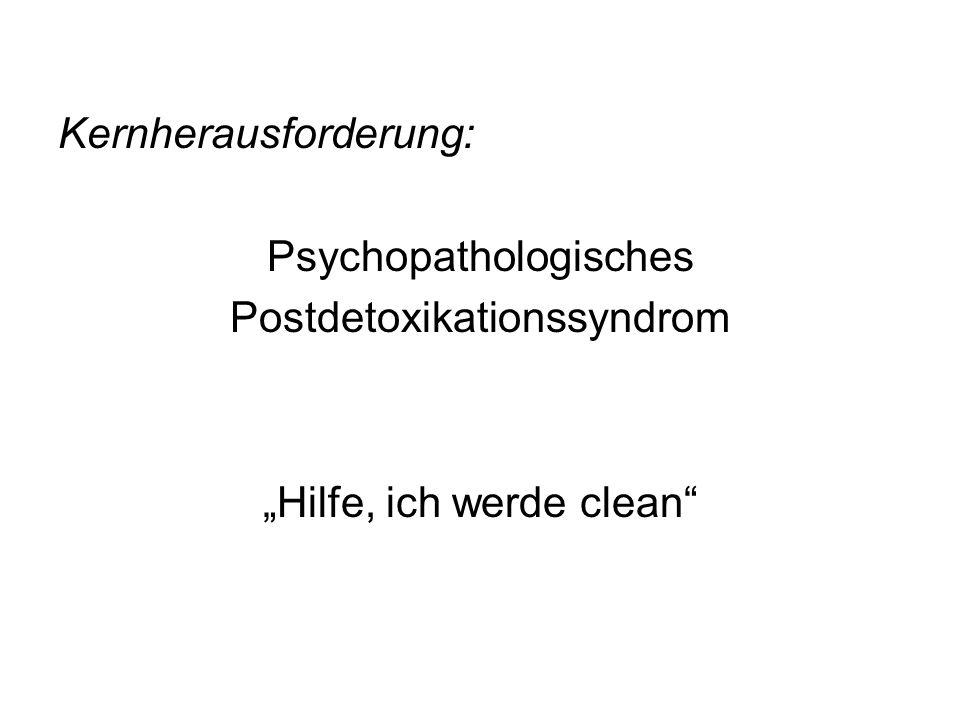 Kernherausforderung: Psychopathologisches Postdetoxikationssyndrom