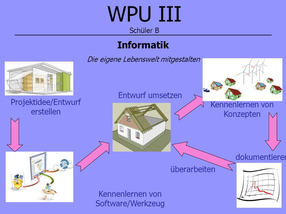 WPU III Schüler B Informatik Entwurf umsetzen