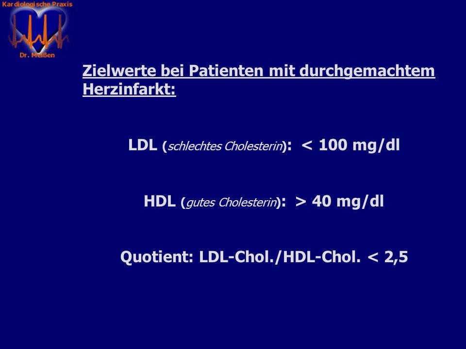Quotient: LDL-Chol./HDL-Chol. < 2,5