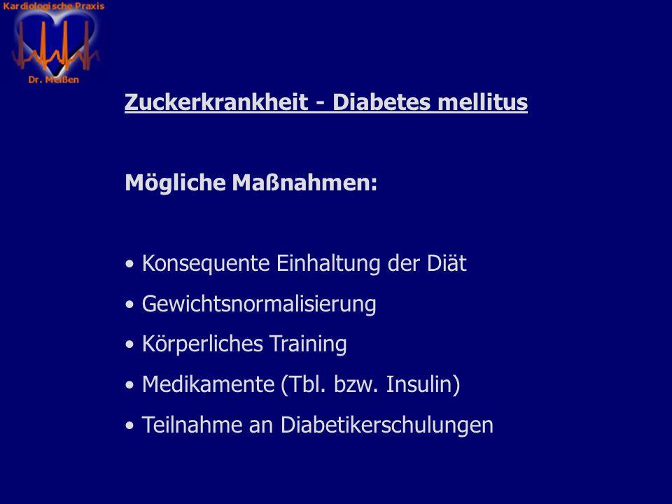 Zuckerkrankheit - Diabetes mellitus
