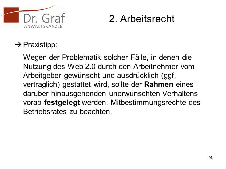2. Arbeitsrecht Praxistipp: