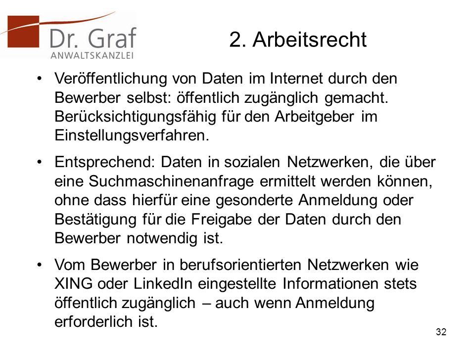 2. Arbeitsrecht