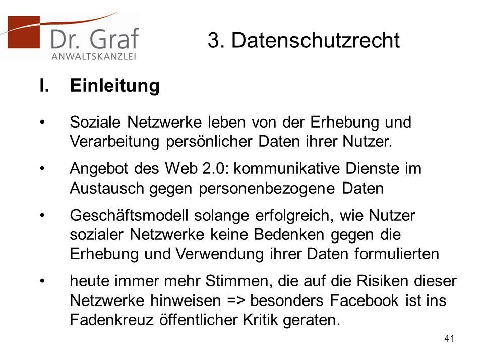 3. Datenschutzrecht Einleitung