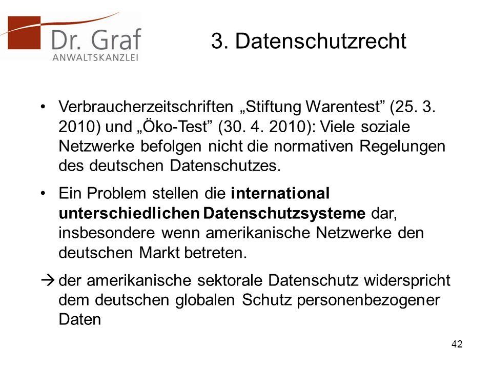3. Datenschutzrecht