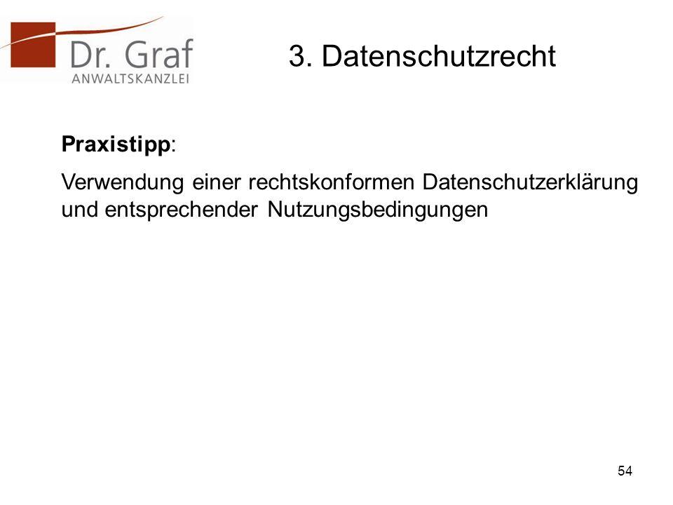 3. Datenschutzrecht Praxistipp: