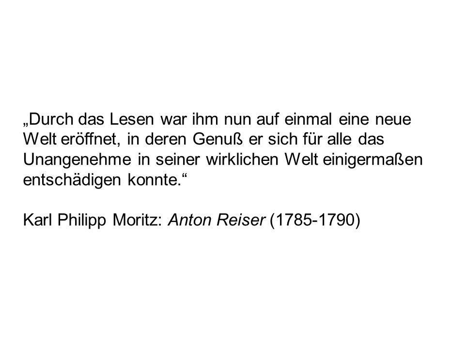 Karl Philipp Moritz: Anton Reiser (1785-1790)