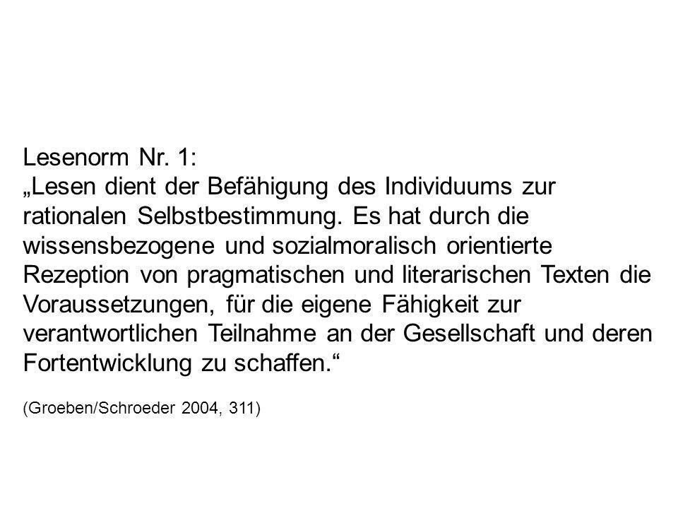 Lesenorm Nr. 1: