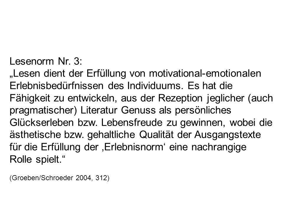 Lesenorm Nr. 3:
