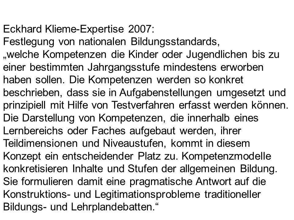Eckhard Klieme-Expertise 2007: