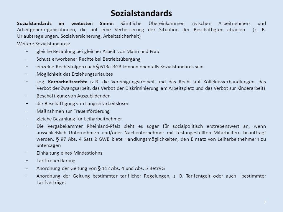 Sozialstandards