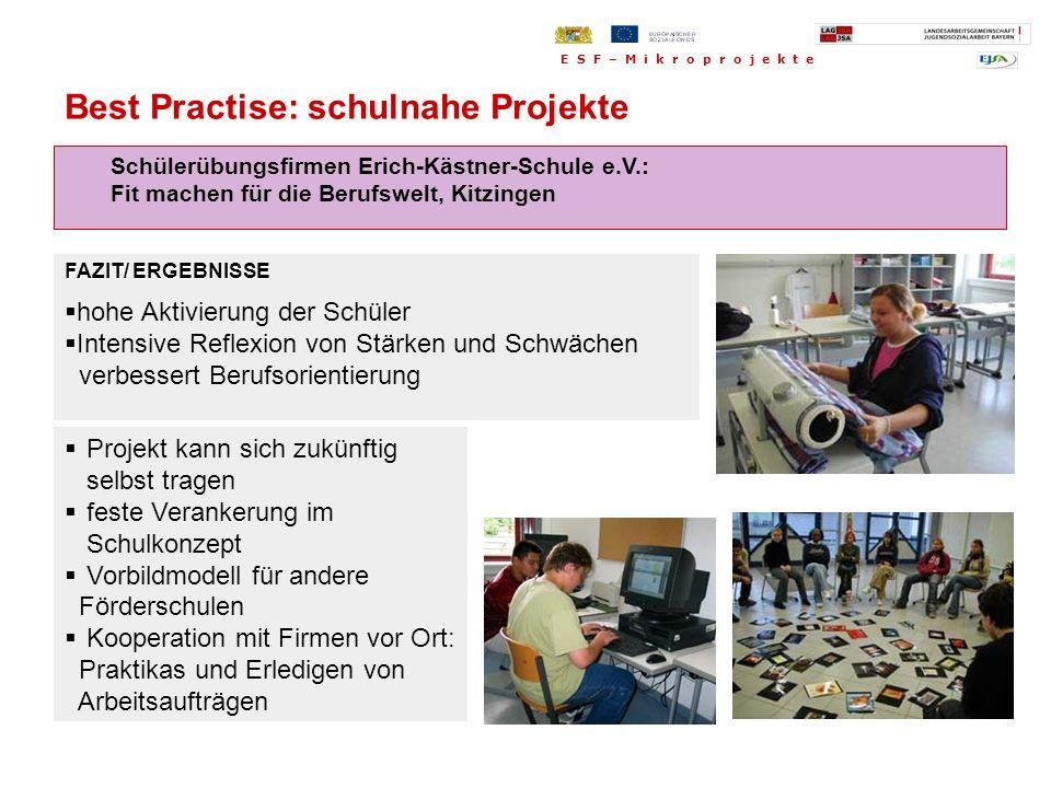 Best Practise: schulnahe Projekte