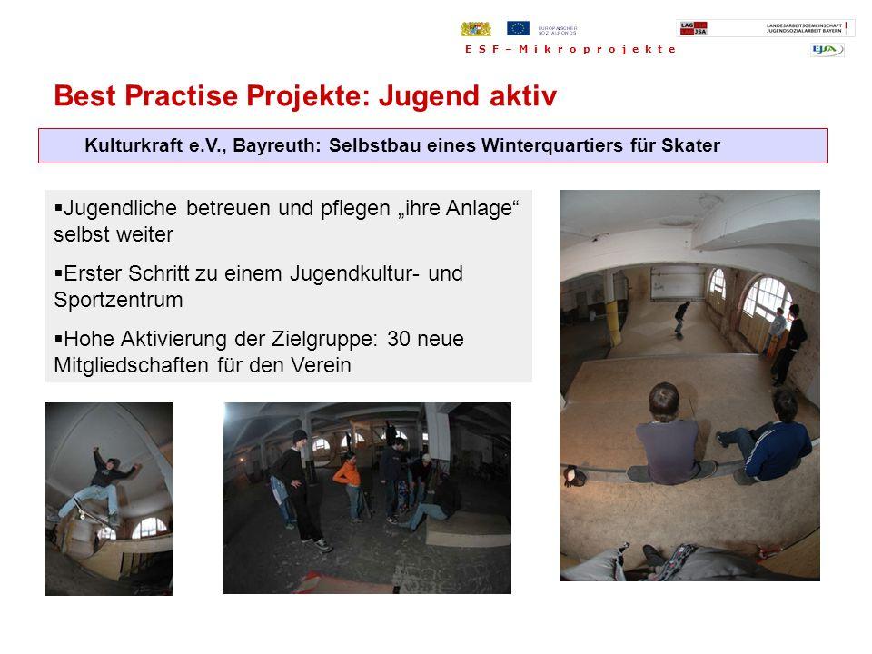 Best Practise Projekte: Jugend aktiv