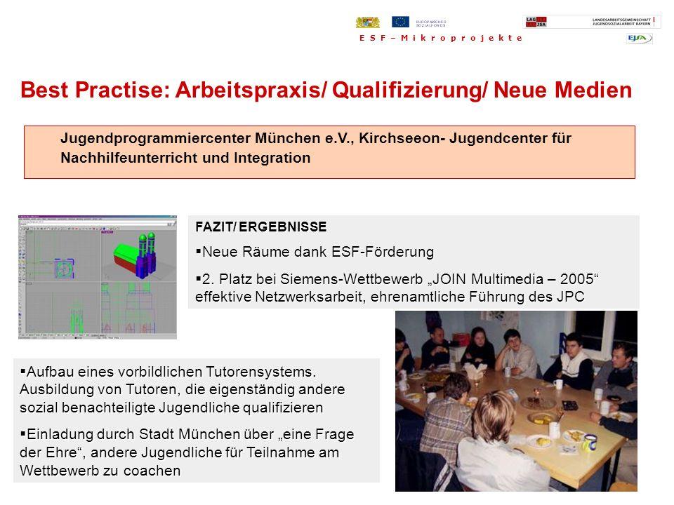 Best Practise: Arbeitspraxis/ Qualifizierung/ Neue Medien