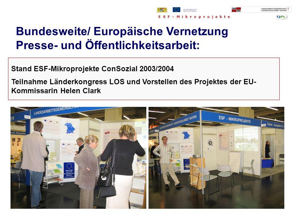 Bundesweite/ Europäische Vernetzung Presse- und Öffentlichkeitsarbeit: