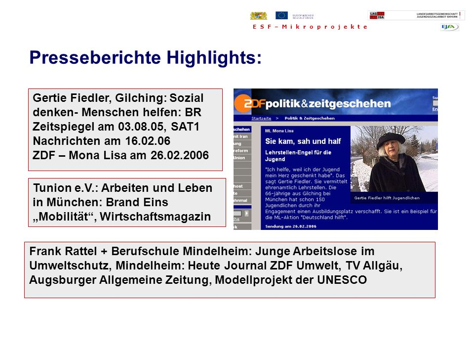 Presseberichte Highlights: