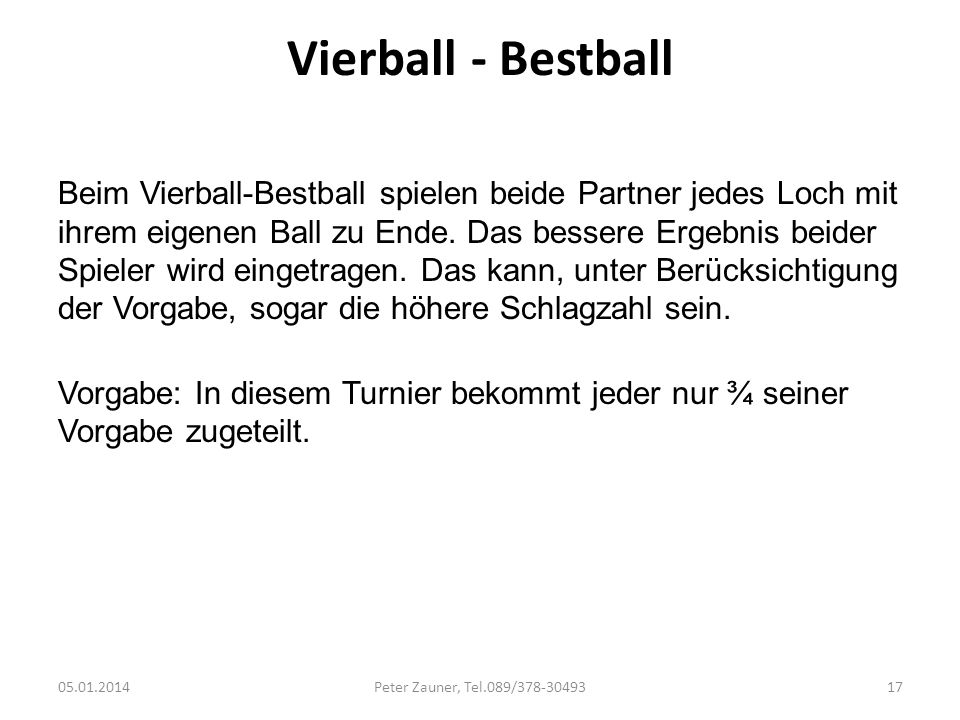 Vierball - Bestball