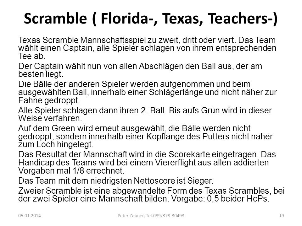 Scramble ( Florida-, Texas, Teachers-)