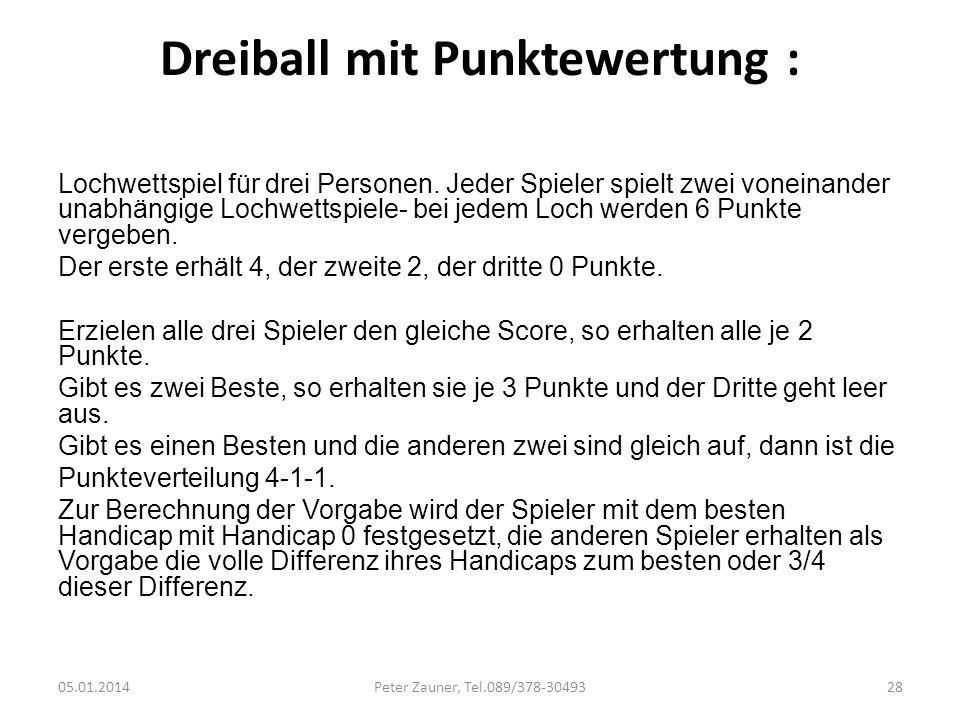 Dreiball mit Punktewertung :