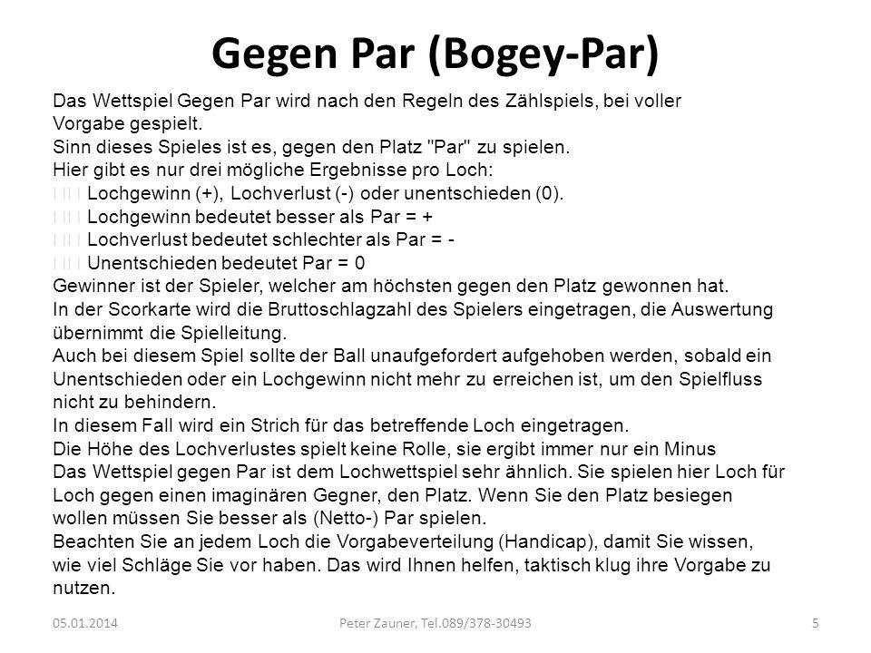Gegen Par (Bogey-Par)