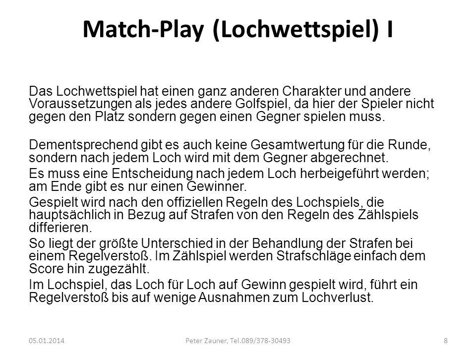 Match-Play (Lochwettspiel) I