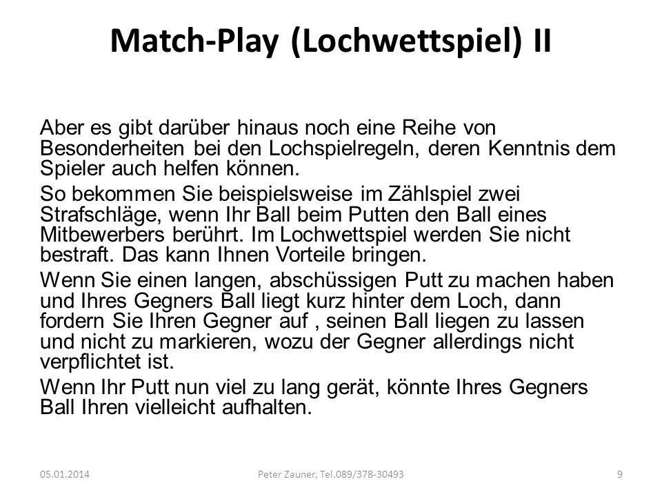 Match-Play (Lochwettspiel) II