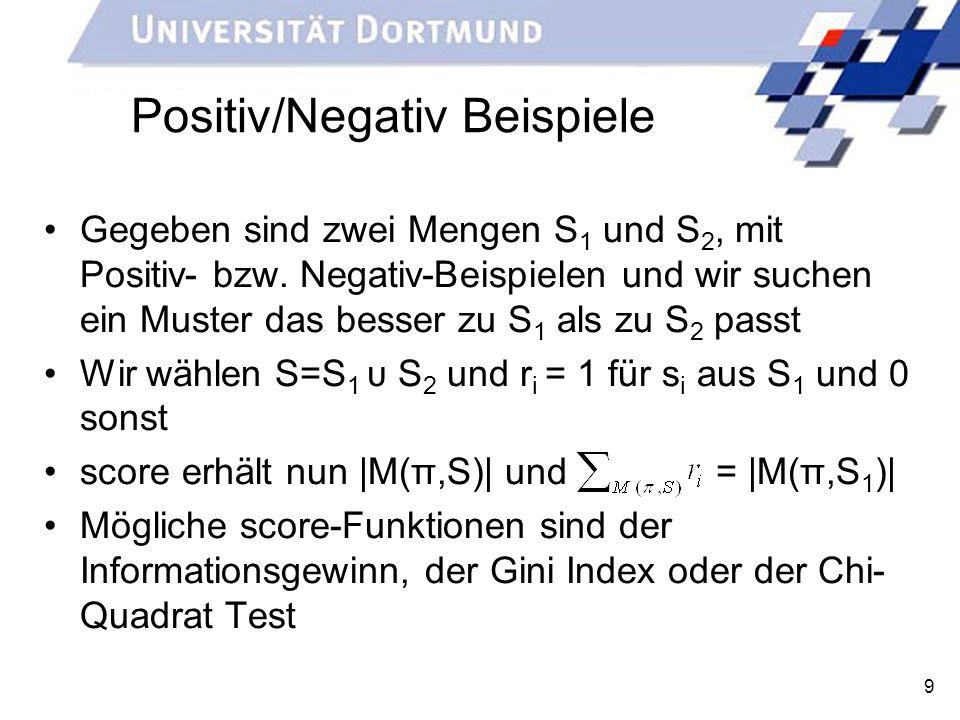 Positiv/Negativ Beispiele