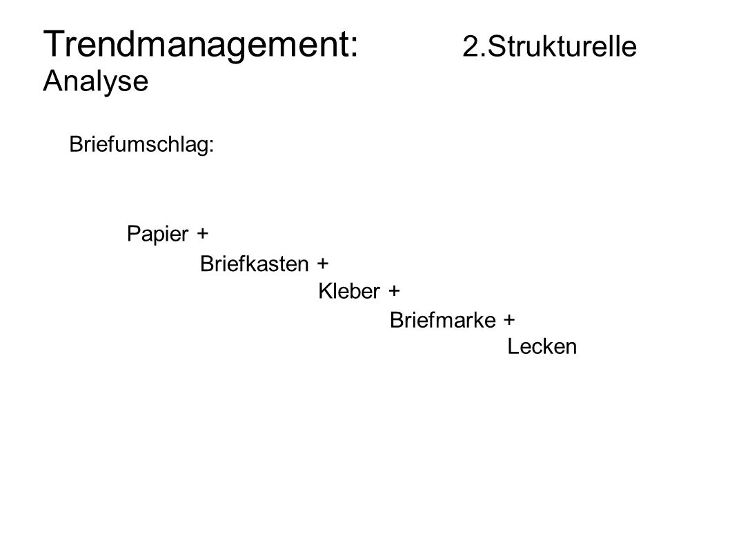 Trendmanagement: 2.Strukturelle Analyse