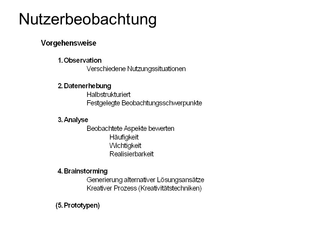 Nutzerbeobachtung