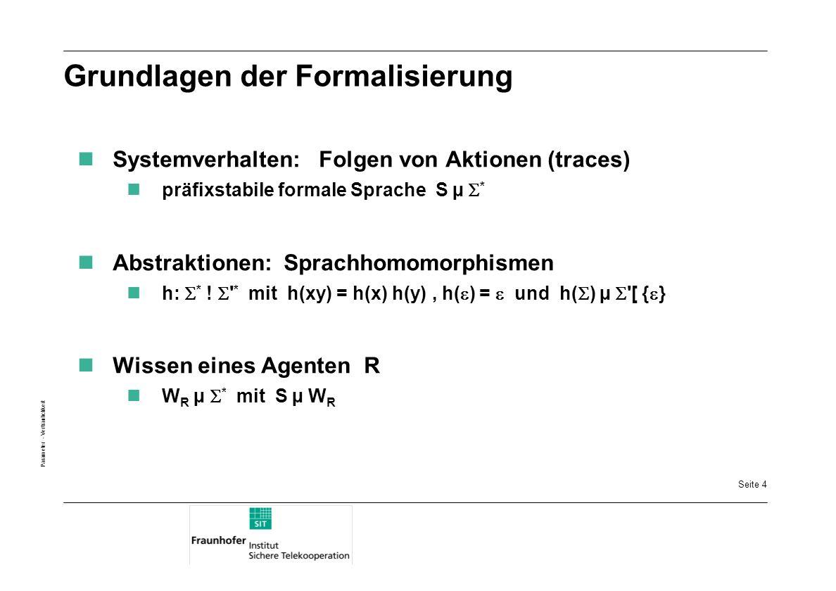 Grundlagen der Formalisierung