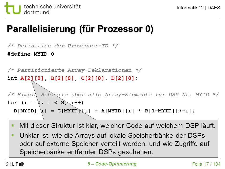 Parallelisierung (für Prozessor 0)