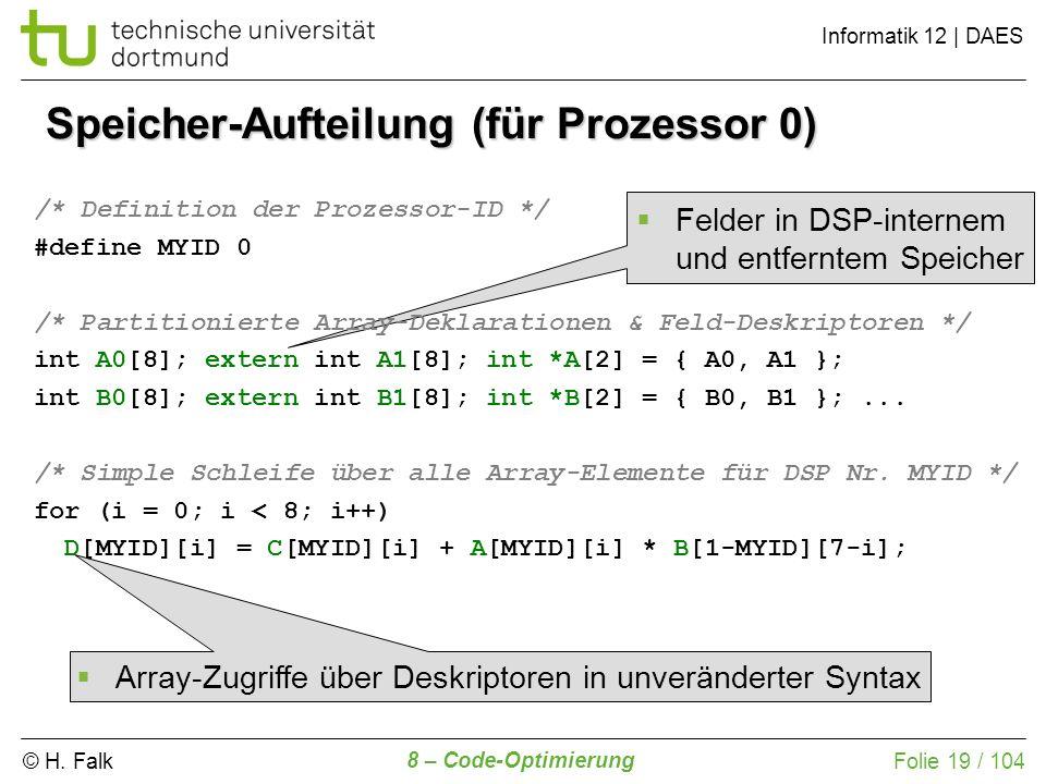 Speicher-Aufteilung (für Prozessor 0)