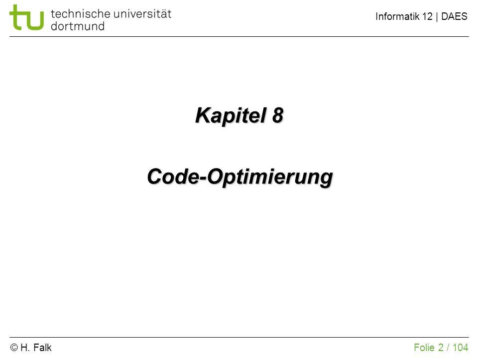Kapitel 8 Code-Optimierung