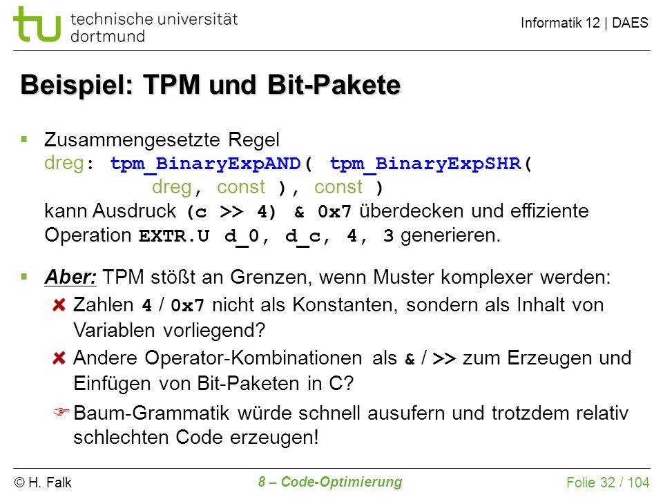 Beispiel: TPM und Bit-Pakete