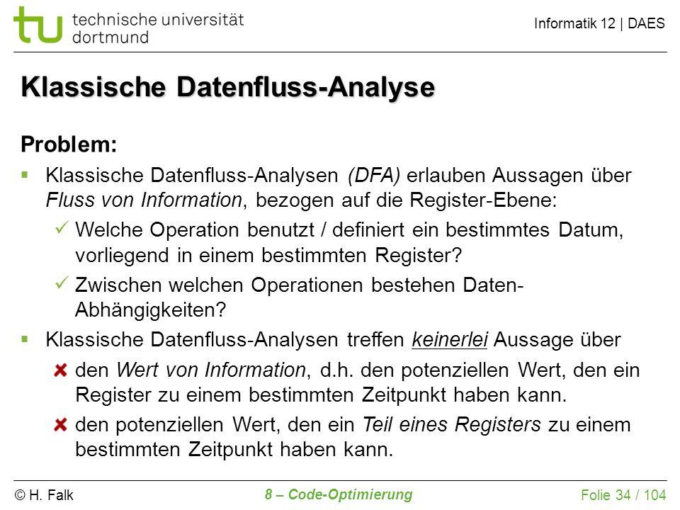 Klassische Datenfluss-Analyse