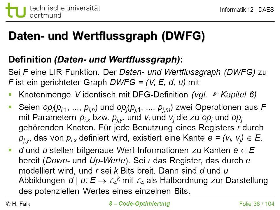 Daten- und Wertflussgraph (DWFG)