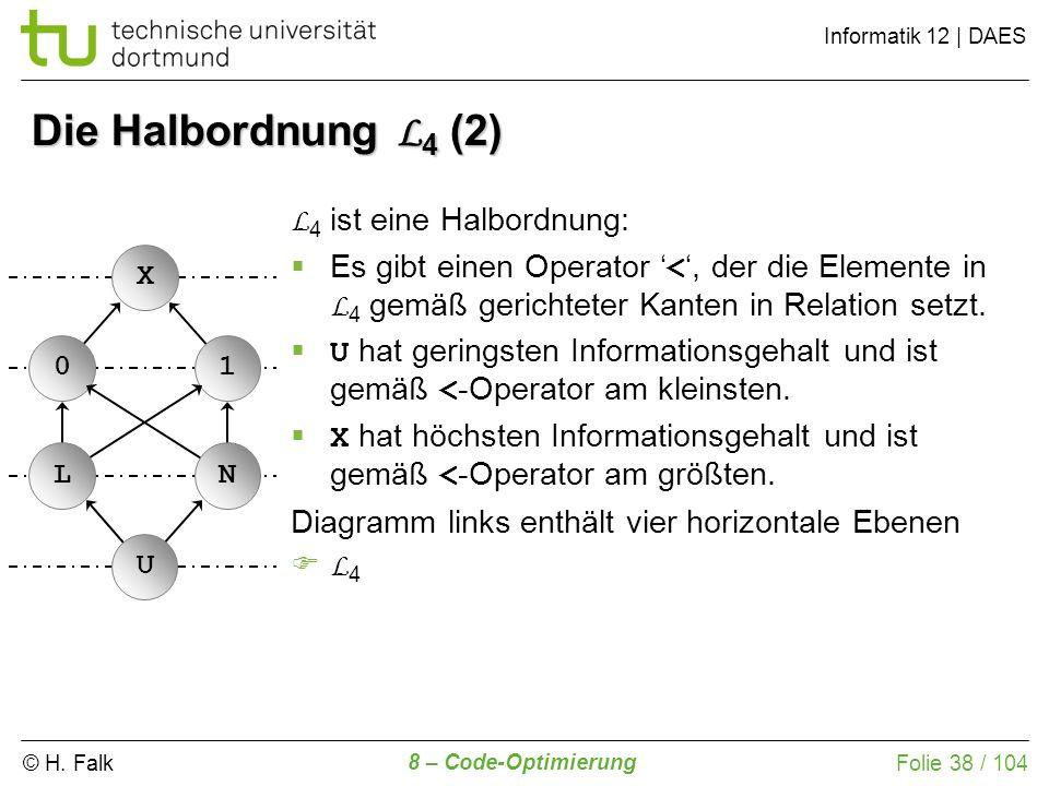 Die Halbordnung L4 (2) L4 ist eine Halbordnung: