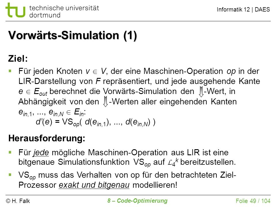 Vorwärts-Simulation (1)