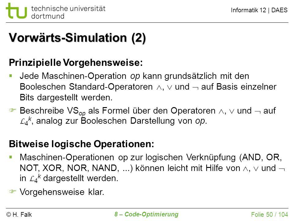 Vorwärts-Simulation (2)